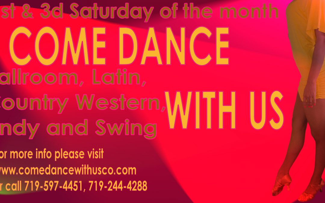 """COME DANCE WITH US"" Ballroom, Latin, Country-Western & Swing Social Dance – SAT, February 4, 2017"