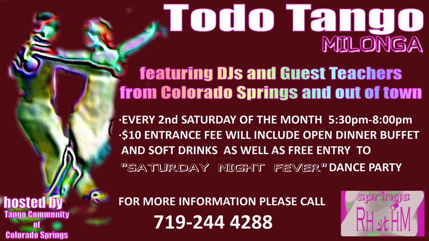 """TODO TANGO"" Milonga in a format of Dinner featuring DJ DANNY WILLIAMS"