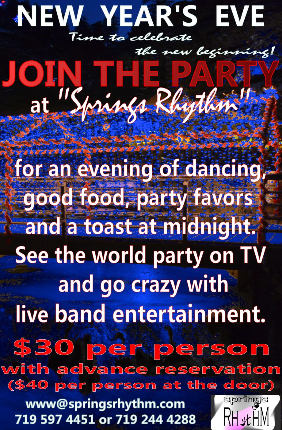 New Year's Eve 2017 $30only with live music