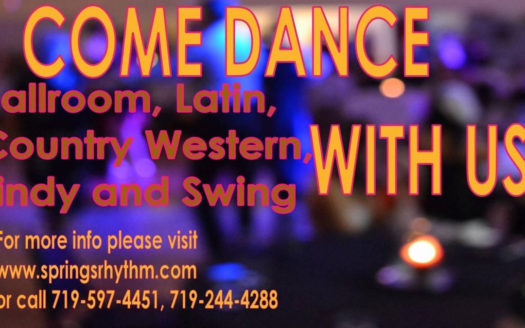 """COME DANCE WITH US"" Ballroom, Latin, Country-Western & Swing Social Dance – SAT, November 16, 2019"